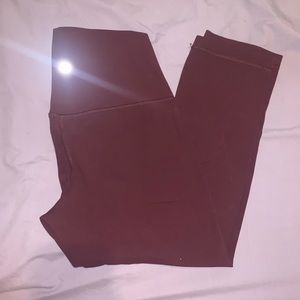 Size 8 purple cropped lululemon leggings